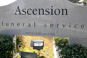 Signage at Ascension Funerals and Cremations, Hillcrest Road, Mobile AL