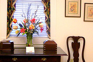 Display at Ascension Funerals and Cremations, Hillcrest Road, Mobile, AL