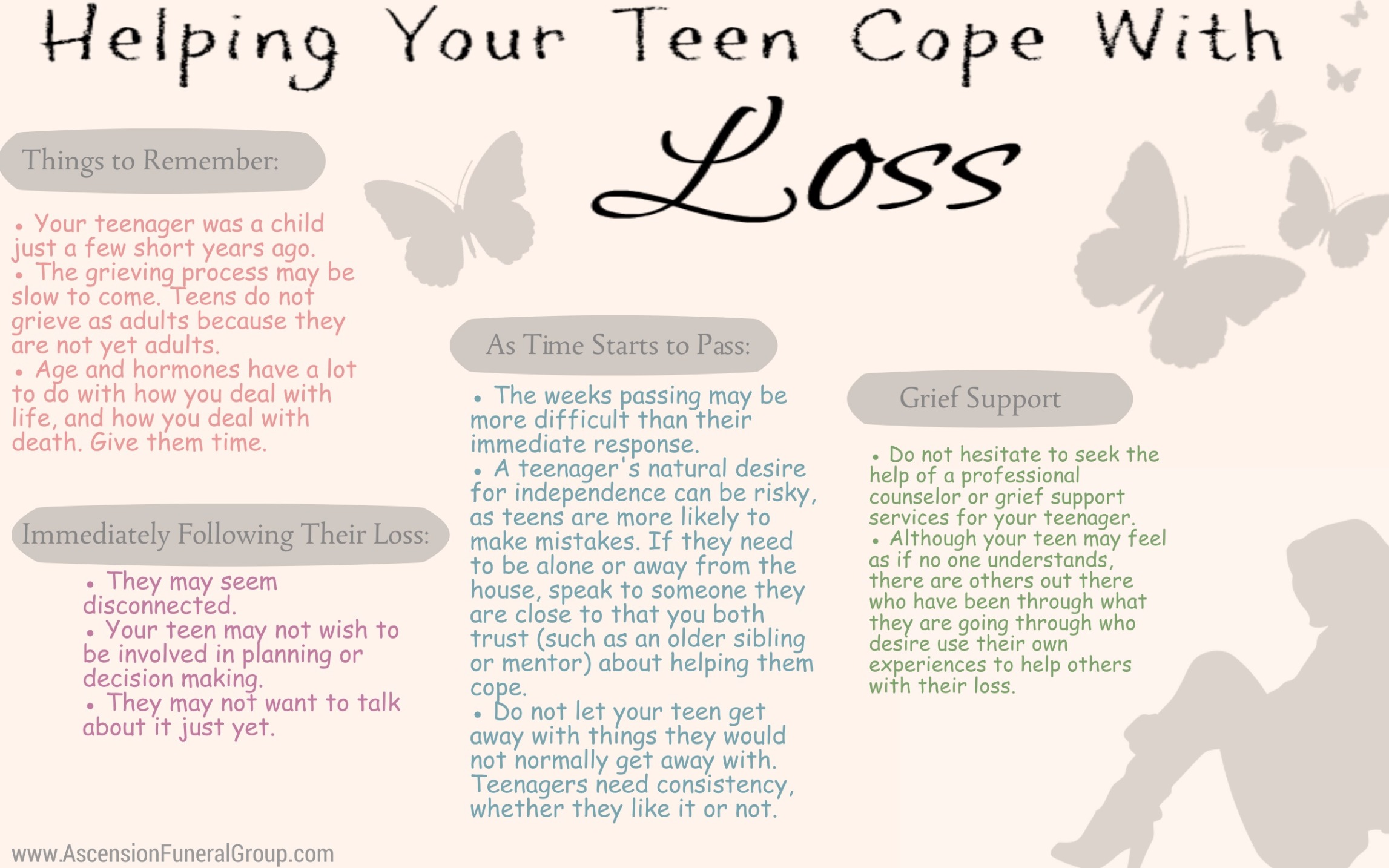 helping teens cope - ascension funeral group